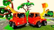 Мультики про машинки - Гонки грузовиков на трассе