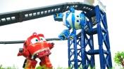 Роботы-поезда — Видео для мальчиков — Американские горки