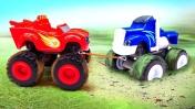 Чудо Машинки - Вспыш и Крушила отправились в поход! – Видео игры для детей.