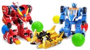 Видео про машины и роботы ТРАНСФОРМЕРЫ Монкарт! Гонки и бассейн с шариками. Видео для мальчиков