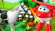 Супер крылья Джетт иего друзья вгостях уМиры! —Игрушки для малышей— Выращиваем овощи