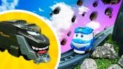 Роботы-поезда— Robot Trains Кей спешит насоревнования ипомогает Дюку— Мультики для малышей