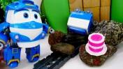 Видео с игрушками. Роботы поезда: день рождения Кея.
