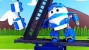 Видео для мальчиков - Роботы-поезда - Ремонт железной дороги