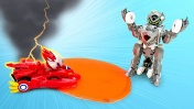 Трансформеры роботы Монкарт — Мультики для детей — Нечестные гонки