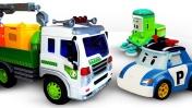 Машинки для мальчиков— Робокар Поли иБольшой мусоровоз наводят порядок и помогают машинкам