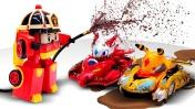 Машинки Трансформеры Робокар Поли, игрушки из Монкарт и Дикие Скричеры! Гонки машинок