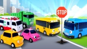 Автобус Тайо имашинки для детей— Развивающее видео для самых маленьких— Чиним дорогу