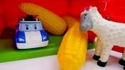 Мультики для детей. Поли робокар ищет кукурузу.