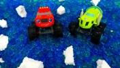 Чудо-машинки - Вспыш и Зег чистят пруд - Игры для мальчиков