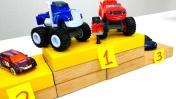 Игры для мальчиков - Машинки Вспыш и Крушила выиграли кубок