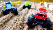 Мультики БОЛЬШИЕ МАШИНКИ. Вспыш и чудо-машинки: гонки машинок по новой трассе. Видео для малышей