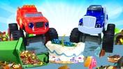 Машинки для детей— Вспыш ичудо-машинки— Крушила, убирай засобой мусор!
