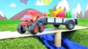 Машинки Вспыш - Видео для мальчиков - Собираем фрукты