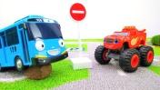 Игры для мальчиков - Вспыш, Крушила и дорожные знаки