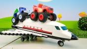 Машинки для мальчиков - Видео игрушки - Вспыш запускает самолет