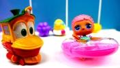 Мультфильм для детей про паровозики – Роботы-поезда  в аквапарке