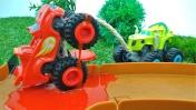 Игры для детей про чудо-машинки - У Вспыша проколото колесо