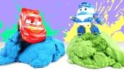 Видео для детей — Роботы-поезда и Молния Маквин — Соревнования
