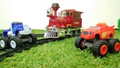 Машинки для мальчиков - Вспыш спасает Крушилу из-под поезда