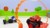 Вспыш и чудо-машинки — Машинки для мальчиков и огненное кольцо