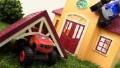 Приключения чудо-машинок. Вспыш и Крушила спешат в школу.