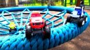 Вспыш и чудо-машинки. Мультики для детей: игрушки на детской площадке. Машинки помогают куклам ЛОЛ