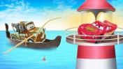 Мультфильм ТАЧКИ! Машинки для детей. Молния Маквин и Мэтр ловят рыбу. Приключения машинок на рыбалке