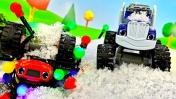 Мультики про машинки: Вспыш и Крушила на новогодней гонке!