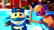 Мультики для детей. Кей в аквапарке - Пеппа, Маквин и Барби