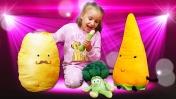 Весёлая детская песня – Играем и готовим суп из овощей! - Музыкальное видео для детей.