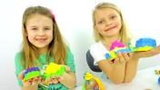 Строим зАмки из Плей До. Видео для детей
