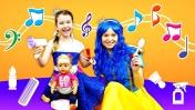 Песенки для детей - Игра Парикмахерская. Развивающие мультики - Две Принцессы