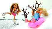 Штеффи и Челси катаются на коньках и сноуборде. Новые мультики