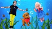 Штеффи в подводном мире. Как вернуться? Куклы Барби: игры для девочек.