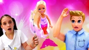 Куклы Барби: как превратить русалку обратно. Видео для девочек.