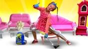 Детские песенки - Веселая песня про уборку дома. Развивающее видео для девочек