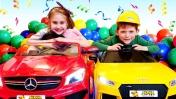 Чиним машину и едем на вечеринку к Барби - Видео для детей.