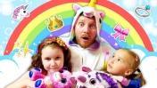 Единорог в гостях у принцесс. Видео для детей: игры для девочек.