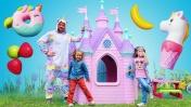 Что едят единороги? Принцессы и игры для девочек: видео для детей.