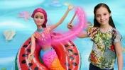 Барби русалка просит о помощи. Видео для девочек: игры с куклами.