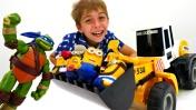 Видео с игрушками: Черепашки-ниндзя помогают миньонам