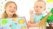 Мультик с игрушками: животные и геометрические фигуры для детей