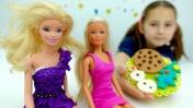 Видео для девочек с Барби. Новогоднее печенье из Плей До