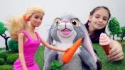 Видео для девочек - Мультик Барби: Кролик Клевер сбежал!