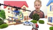 Видео для мальчиков с игрушками Лего: погоня на вертолёте