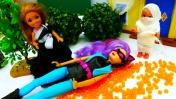 Видео для девочек - Детское видео про Хэллоуин с Челси и Штеффи. Игры Барби