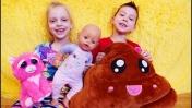 Детская комната. Беби А: играем с Беби Бон, как мама. Видео для детей.