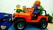 Видео для девочек - Миньон и кукла Штеффи едут на море