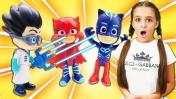 Герои в масках: Ромео всё покрасил в синий. Видео для детей.